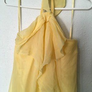 BCBGMaxAzria Dresses - BCBG MazAzaria Yellow Sequin Cocktail Dress
